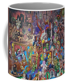 An Artist Contemplates Good And Evil Coffee Mug