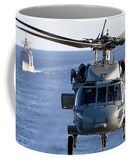 An Mh-60s Seahawk Helps Conduct Coffee Mug