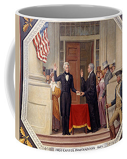Coffee Mug featuring the photograph Andrew Jackson At The First Capitol Inauguration - C 1829 by International  Images