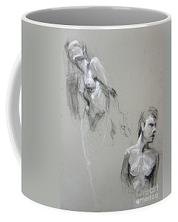 Coffee Mug featuring the drawing Andro Double by Gabrielle Wilson-Sealy