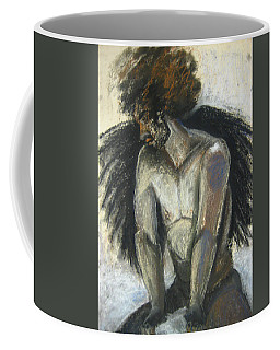 Coffee Mug featuring the drawing Angel by Gabrielle Wilson-Sealy