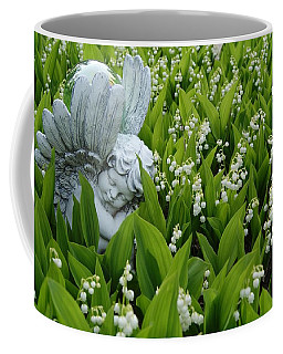 Angel In The Lilies Coffee Mug by Steven Clipperton
