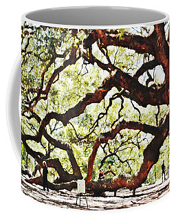 Coffee Mug featuring the photograph Angel Oak Tree 2 by Donna Bentley