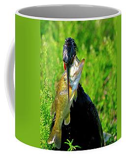 Anhinga And The Fish Coffee Mug