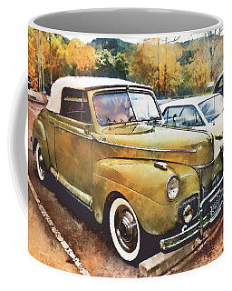 Coffee Mug featuring the digital art Antique Car  by Mary Almond