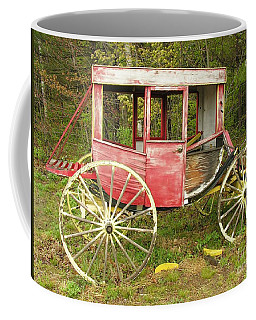 Coffee Mug featuring the photograph Old Horse Drawn Carriage by Sherman Perry