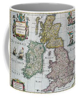 Antique Map Of Britain Coffee Mug