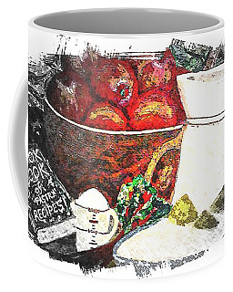 Apple And Rhubarb Pie Coffee Mug