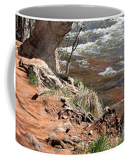Coffee Mug featuring the photograph Arizona Red Water by Debbie Hart
