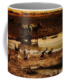 Coffee Mug featuring the photograph Around The Pond by Lydia Holly