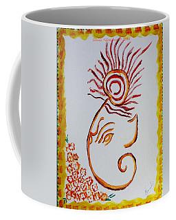 Coffee Mug featuring the painting Artistic Lord Ganesha by Sonali Gangane