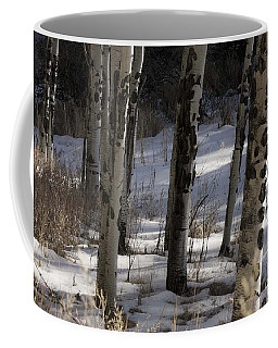 Coffee Mug featuring the photograph Aspen Grove by Angelique Olin