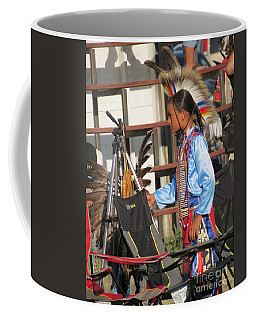 Coffee Mug featuring the photograph At Blackfeet Pow Wow 03 by Ausra Huntington nee Paulauskaite