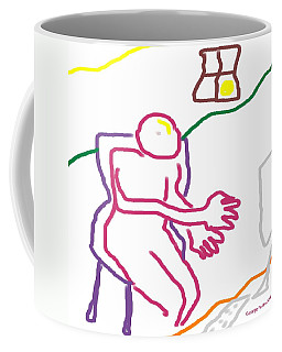 Coffee Mug featuring the digital art At The Computer by George Pedro