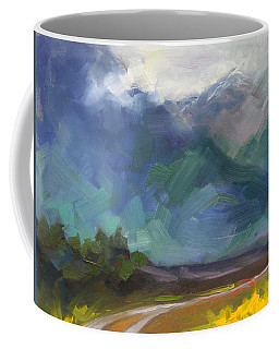 Coffee Mug featuring the painting At The Feet Of Giants by Talya Johnson