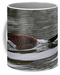 Coffee Mug featuring the photograph Attack Of The Canadian Geese by Elizabeth Winter