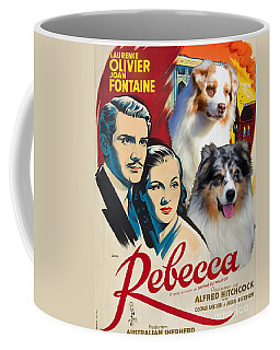 Australian Shepherd Art - Rebecca Movie Poster Coffee Mug