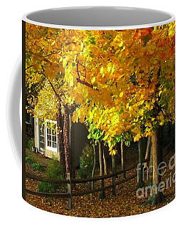 Coffee Mug featuring the photograph Autumn At Bayberry Cottage  by Nancy Patterson