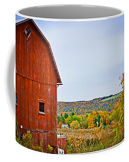 Autumn At The Farm Coffee Mug by Sara Frank