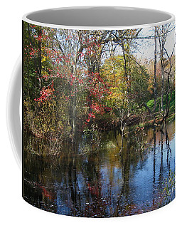 Coffee Mug featuring the photograph Autumn Colors On The Pond  by Nancy Patterson