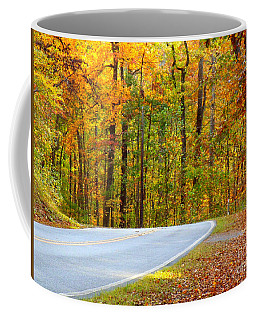 Coffee Mug featuring the photograph Autumn Drive by Lydia Holly