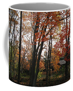 Coffee Mug featuring the photograph Autumn In Mauricetown by Nancy Patterson
