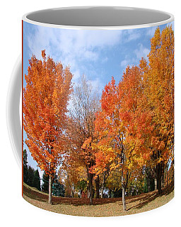 Coffee Mug featuring the photograph Autumn Leaves by Athena Mckinzie