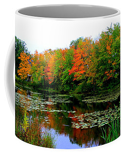 Autumn On A Pond Coffee Mug