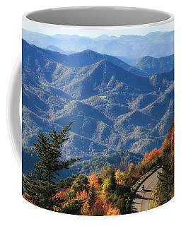 Coffee Mug featuring the photograph Autumn On The Blue Ridge Parkway by Lynne Jenkins
