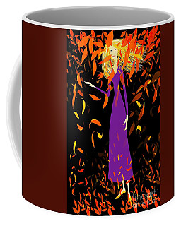 Coffee Mug featuring the digital art Autumn Spirit by Barbara Moignard