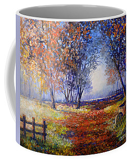 Autumn Wheelbarrow Coffee Mug