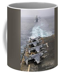Av-8b Harriers Line The Flight Deck Coffee Mug