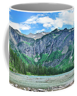 Coffee Mug featuring the photograph Avalanche Lake Panorama by Greg Norrell
