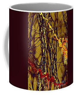 Shapes Of Fire Coffee Mug by Leo Symon
