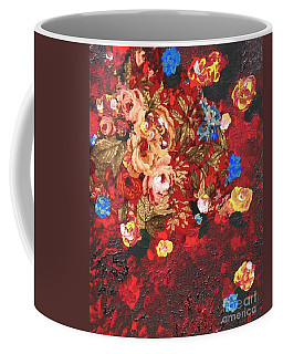 Coffee Mug featuring the painting Baba's Garden Lg by Alys Caviness-Gober
