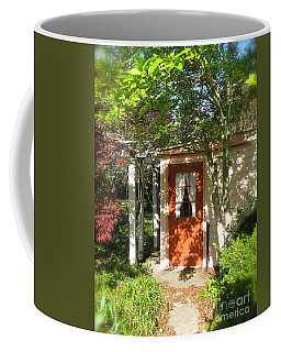 Coffee Mug featuring the photograph Back Door by Nancy Patterson