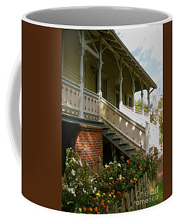 Coffee Mug featuring the photograph Back Porch by Nancy Patterson