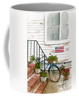 Coffee Mug featuring the painting Back Step by Nancy Patterson