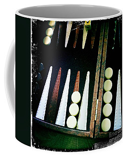 Coffee Mug featuring the photograph Backgammon Anyone by Nina Prommer