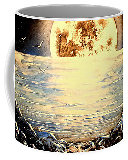 Coffee Mug featuring the painting Bad Moon Rising by Greg Moores