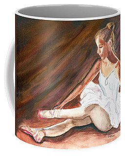 Coffee Mug featuring the painting Ballet Dancer by Clara Sue Beym