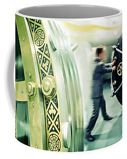 Banker Is Opening Safe Door Coffee Mug