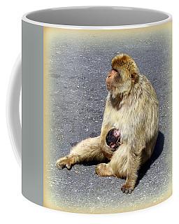 Barbary Ape Mother And Baby Coffee Mug