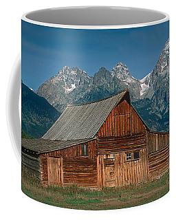 Barn And Tetons Coffee Mug by Jerry Fornarotto
