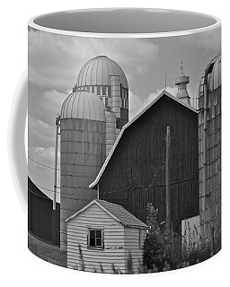 Barns And Silos Black And White Coffee Mug by Pamela Walrath