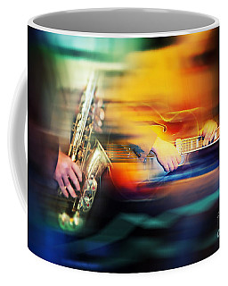 Coffee Mug featuring the photograph Basic Jazz Instruments by Ariadna De Raadt