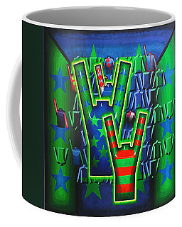 Coffee Mug featuring the painting Basilea Star  by Mark Howard Jones