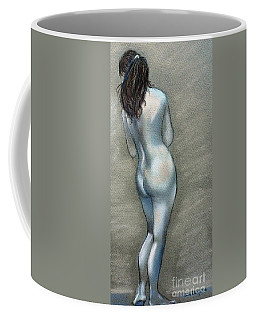 Coffee Mug featuring the drawing Bath Time by Julie Brugh Riffey
