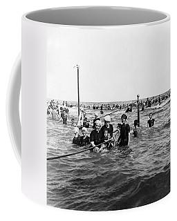 Bathing In The Gulf Of Mexico - Galveston Texas  C 1914 Coffee Mug