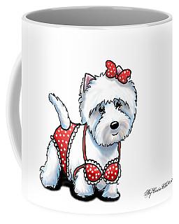 Beach Babe Westie Coffee Mug